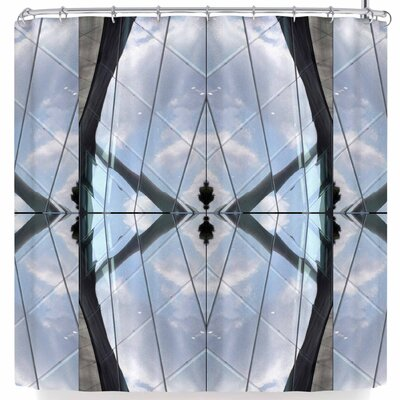 Tiny September Butterfly Glass Photography Shower Curtain