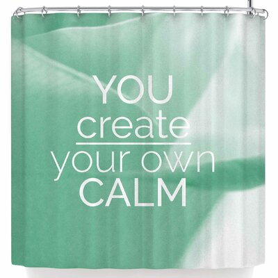 Tiny September You Create Your Own Calm Photography Shower Curtain