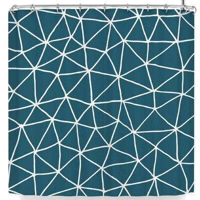 Pellerina Peacock Geometrics Modern Shower Curtain