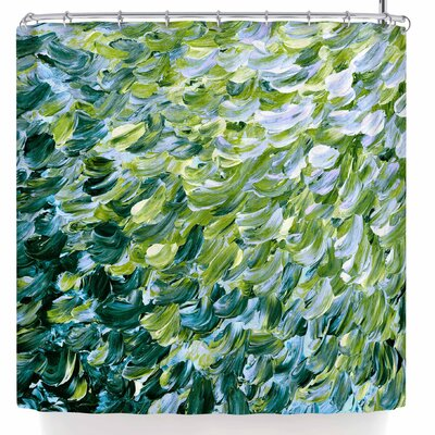 Ebi Emporium Frosted Feathers 3 Shower Curtain