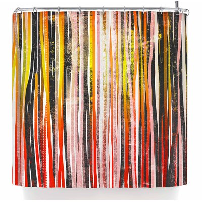 Frederic Levy-Hadida Chocolate Stripes Illustration Shower Curtain