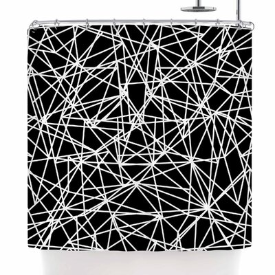 Fimbis Bionic Rays BW Shower Curtain