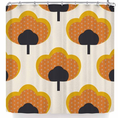 Natt Yellow Flowers Shower Curtain