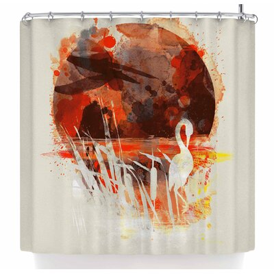 Frederic Levy-Hadida Moon Painted with Tea Shower Curtain