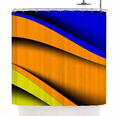 Fotios Pavlopoulos Colorful Flow Abstract Digital Shower Curtain