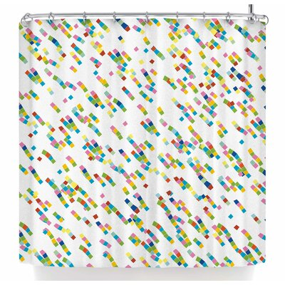 Frederic Levy-Hadida Squares Salad Shower Curtain