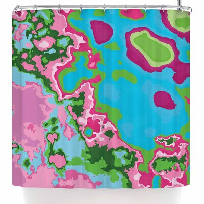 Empire Ruhl Spring Agate Abstract Shower Curtain