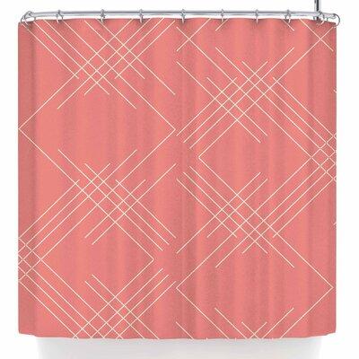 Famenxt All A Blaze Abstract Illustration Shower Curtain