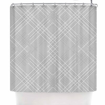 Famenxt Gray Abstract Illustration Shower Curtain