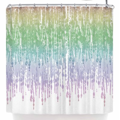 Frederic Levy-Hadida Rainbow Drops Shower Curtain