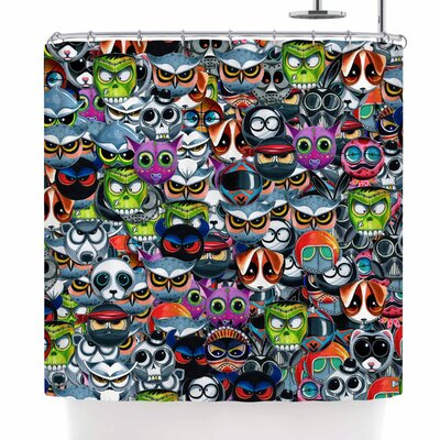 Ivan Joh Holiday Chaos Illustration Shower Curtain