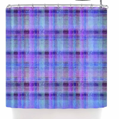 Carolyn Greifeld Watercolor Plaid Shower Curtain Color: Blue/Purple