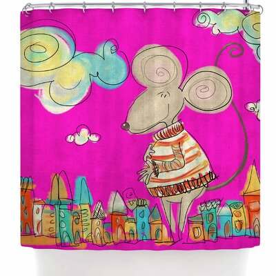 Carina Povarchik Urban Mouse Shower Curtain Color: Magenta/Pink