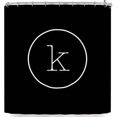 Simple Monogram Shower Curtain Letter: K