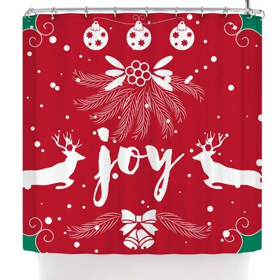 Famenxt Christmas Joy Shower Curtain