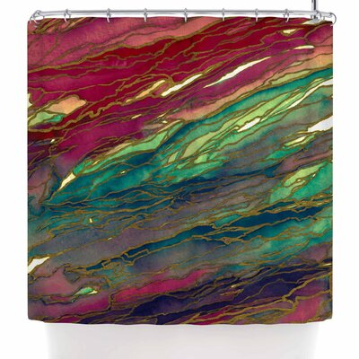 Ebi Emporium Agate Magic - Red Lavender Shower Curtain Color: Red/Green/Aqua