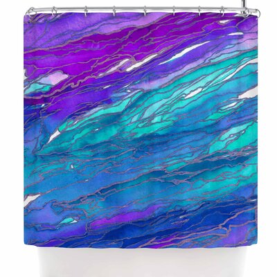Ebi Emporium Agate Magic - Red Lavender Shower Curtain Color: Purple/Lavender/Aqua