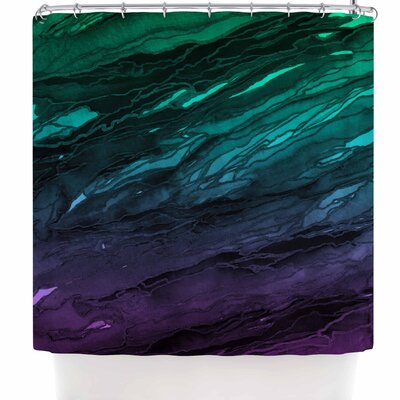 Ebi Emporium Agate Magic - Red Lavender Shower Curtain Color: Green/Aqua/Purple