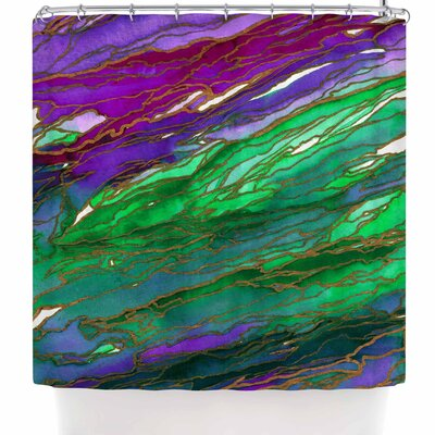 Ebi Emporium Agate Magic - Red Lavender Shower Curtain Color: Purple/Green/Lavender