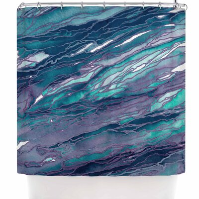 Ebi Emporium Agate Magic - Red Lavender Shower Curtain Color: Teal/Blue/Lavender