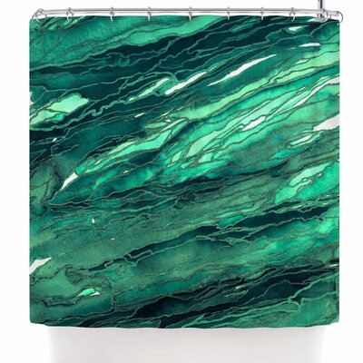 Ebi Emporium Agate Magic - Red Lavender Shower Curtain Color: Teal/Green