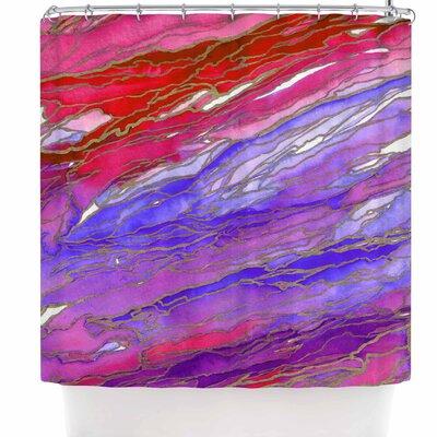Ebi Emporium Agate Magic - Red Lavender Shower Curtain Color: Red/Lavender