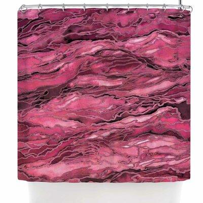 Ebi Emporium Marble Idea! - Rich Jewel Tone Shower Curtain Color: Coral Pink Magenta