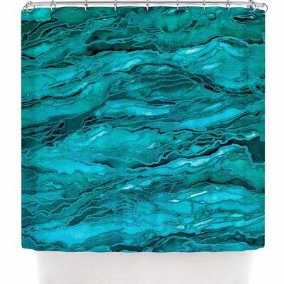 Ebi Emporium Marble Idea! - Rich Jewel Tone Shower Curtain Color: Teal Aqua Aqua Blue