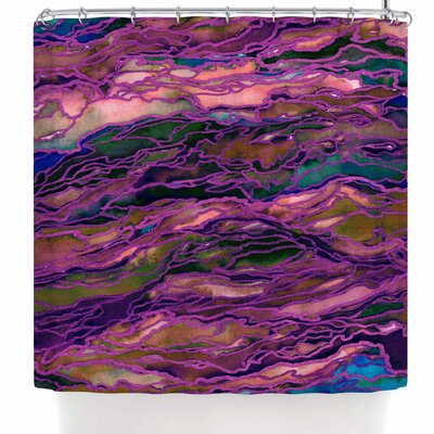 Ebi Emporium Marble Idea! - Rich Jewel Tone Shower Curtain Color: Purple Pink