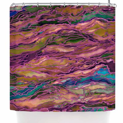 Ebi Emporium Marble Idea! - Rich Jewel Tone Shower Curtain Color: Lavender Pink