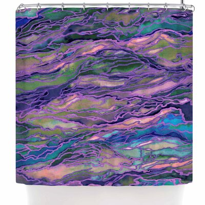 Ebi Emporium Marble Idea! - Rich Jewel Tone Shower Curtain Color: Lavender Pink Purple