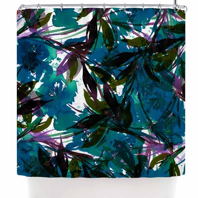 Ebi Emporium Floral Fiesta Plum Shower Curtain Color: Teal