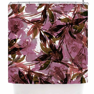 Ebi Emporium Floral Fiesta Plum Shower Curtain Color: Mauve Pink