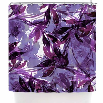 Ebi Emporium Floral Fiesta Plum Shower Curtain Color: Purple/Lavender