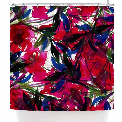Ebi Emporium Floral Fiesta Plum Shower Curtain Color: Red/Blue/Maroon