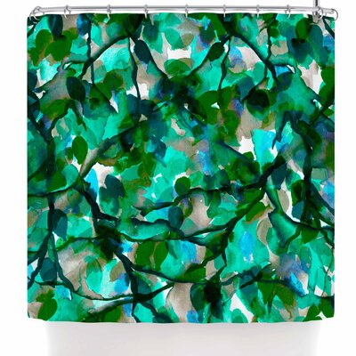 Ebi Emporium By Any Other Name 7 Shower Curtain Color: Green/Teal