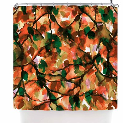 Ebi Emporium By Any Other Name 7 Shower Curtain Color: Orange/Green