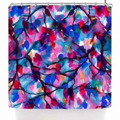 Ebi Emporium By Any Other Name 7 Shower Curtain Color: Blue/Red