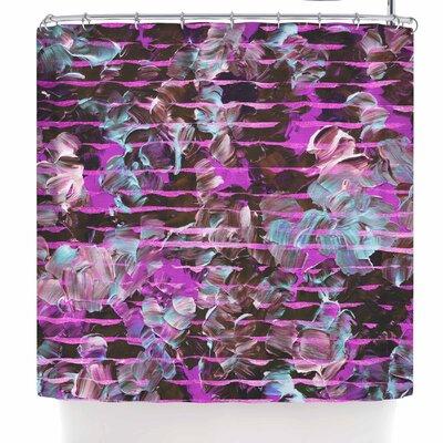 Ebi Emporium Gold Dust Garden Shower Curtain Color: Pink/Lavender