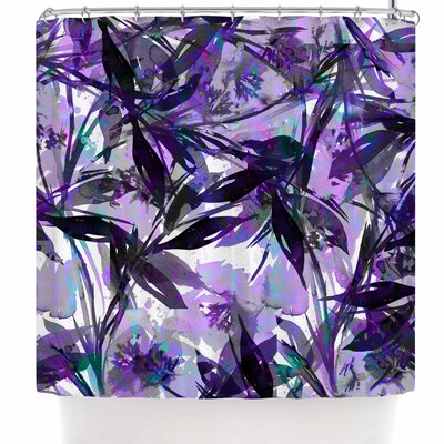 Ebi Emporium Floral Fiesta Lavender Shower Curtain Color: Lavender