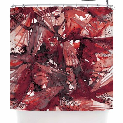 Ebi Emporium Birds of Prey - Tropical 3 Shower Curtain Color: Red/Black