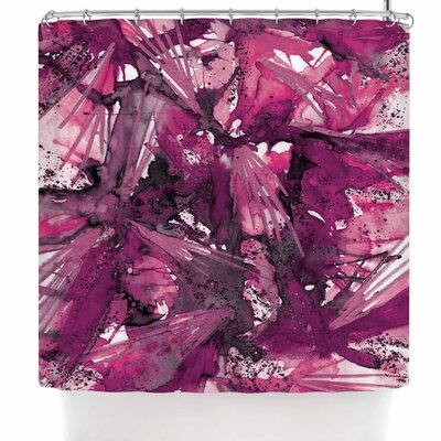 Ebi Emporium Birds of Prey - Tropical 3 Shower Curtain Color: Magenta/Purple/Pink