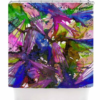 Ebi Emporium Birds of Prey - Tropical 3 Shower Curtain Color: Green/Blue