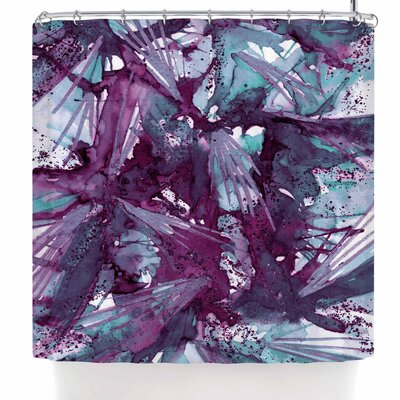 Ebi Emporium Birds of Prey - Tropical 3 Shower Curtain Color: Blue/Purple