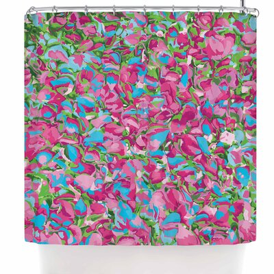 Empire Ruhl Abstract Spring Petals Shower Curtain