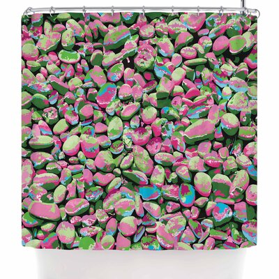 Empire Ruhl Rocks Spring Abstract Nature Shower Curtain