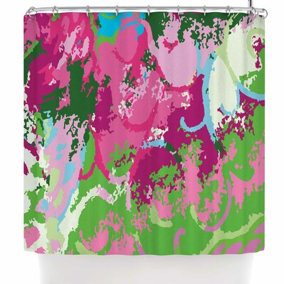 Empire Ruhl Spring Frolic Abstract Shower Curtain