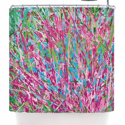 Empire Ruhl Spring Grass Abstract Shower Curtain