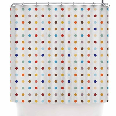 Empire Ruhl Fall Dots Digital Shower Curtain