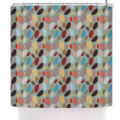 Empire Ruhl Fall Pebbles Digital Shower Curtain